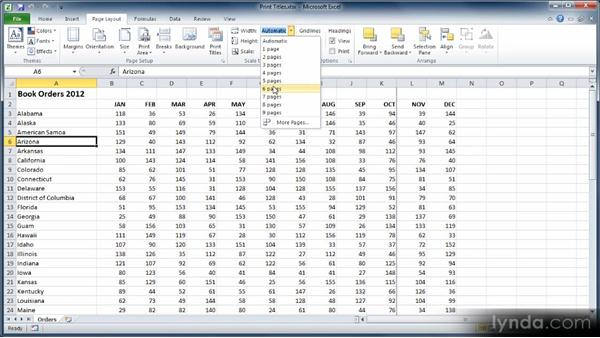 Setting up page breaks: Learn Excel 2010: The Basics