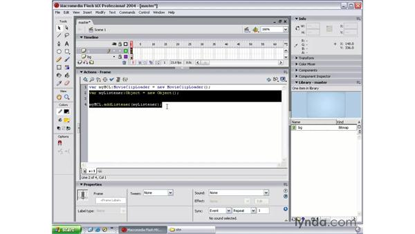 create master.swf part 3: Flash MX 2004 Beyond the Basics