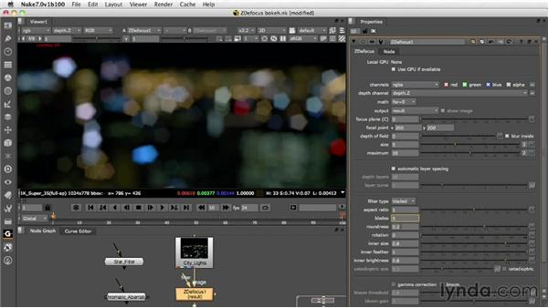 Setting up and adjusting bokeh: Nuke 7 New Features