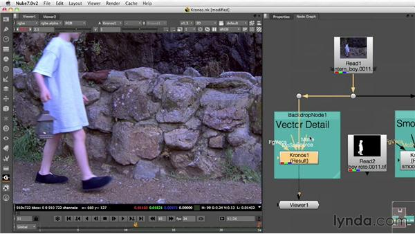 Retiming a shot with optical flow: Nuke 7 New Features