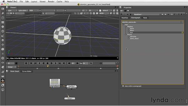 Importing camera and axis information: Nuke 7 New Features