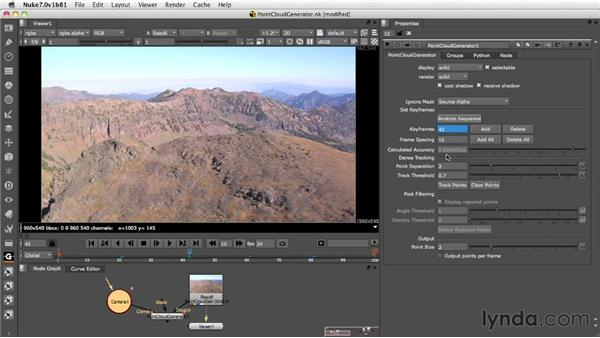 Tracking and point generation: Nuke 7 New Features