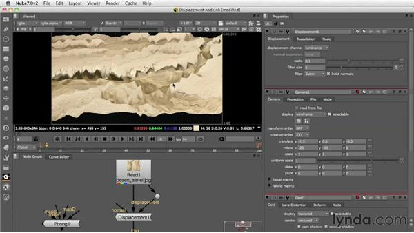 Setting up displacements: Nuke 7 New Features