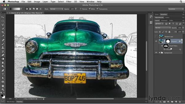 Using filter masks: Photoshop for Designers: Filters