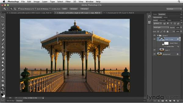 Sharpening with Vivid Light and Surface Blur: Photoshop for Designers: Filters
