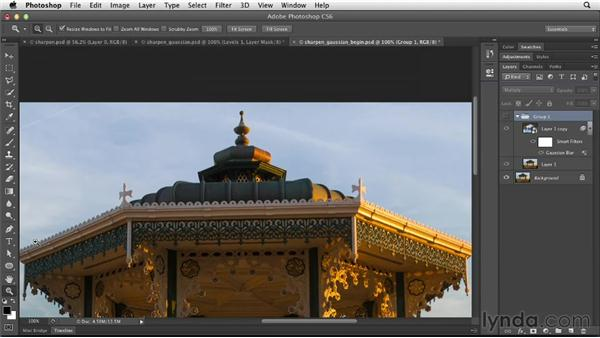 Sharpening with Gaussian Blur: Photoshop for Designers: Filters