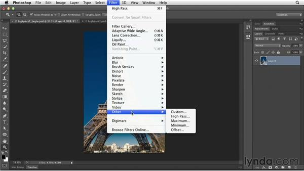 High-pass sharpening: Photoshop for Designers: Filters