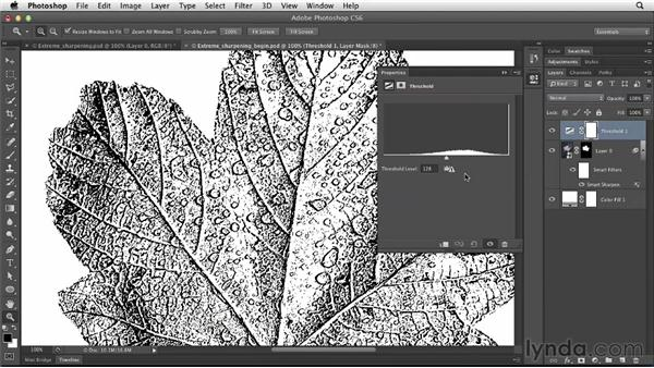 Sharpening and line art: Photoshop for Designers: Filters