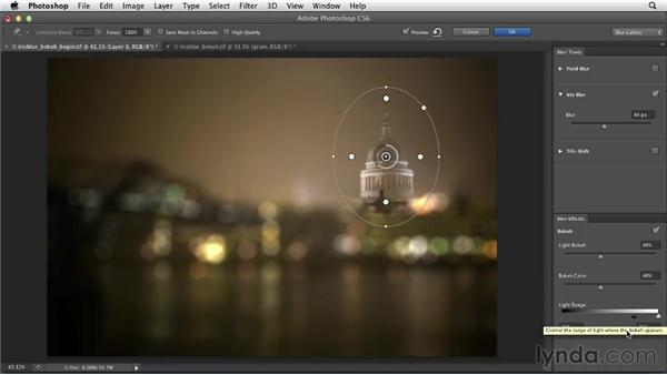 Using Iris Blur with the Bokeh effect: Photoshop for Designers: Filters