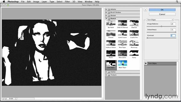 Using the Cutout filter: Part two: Photoshop for Designers: Filters