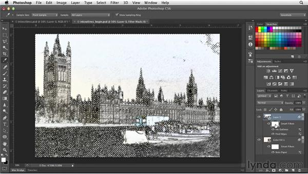 The Ink Outlines filter: Photoshop for Designers: Filters