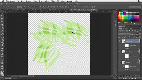 Applying distort filters to shape layers: Photoshop for Designers: Filters