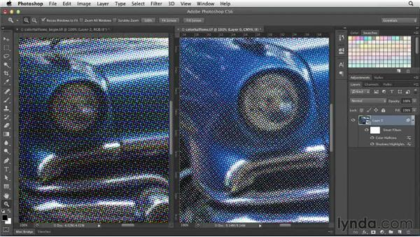 Using the Color Halftone filter: Photoshop for Designers: Filters