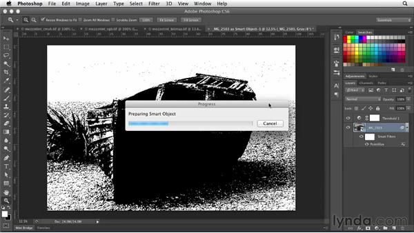 Creating an authentic mezzotint: Photoshop for Designers: Filters