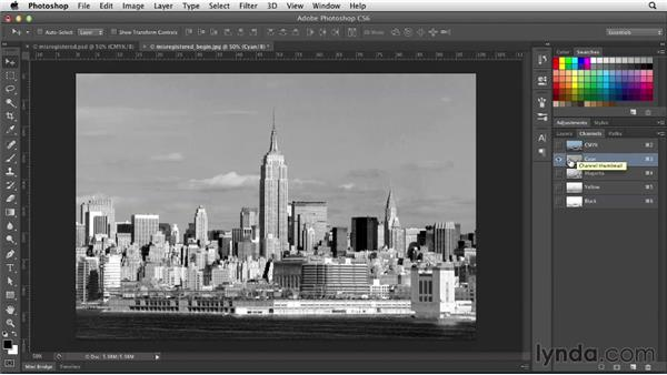 Creating a misregistration effect: Photoshop for Designers: Filters