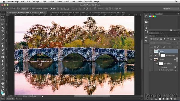 Experimenting with pointillist techniques: Photoshop for Designers: Filters
