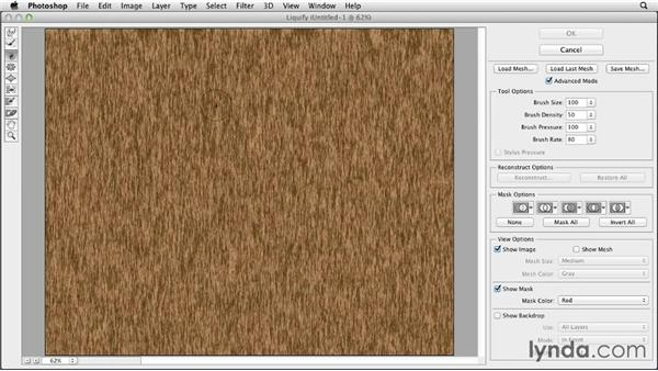 Creating a woodgrain effect with Fibers: Photoshop for Designers: Filters