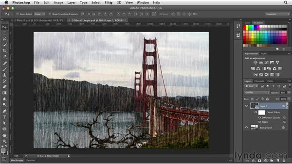 Distressing a photo with Fibers and Difference Clouds: Photoshop for Designers: Filters