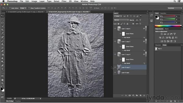 Combining Bas Relief with Lighting Effects: Photoshop for Designers: Filters
