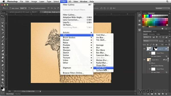 Creating a hand-painted look using the Photocopy filter: Photoshop for Designers: Filters