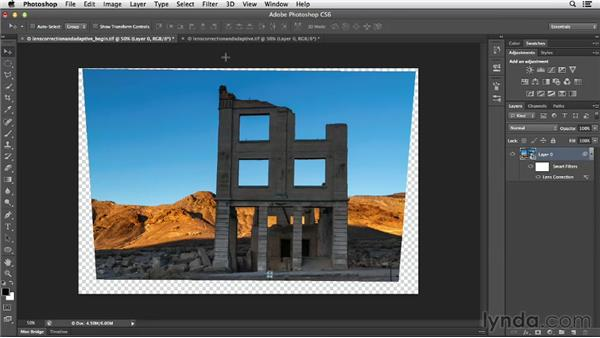 Combining Lens Correction and Adaptive Wide Angle: Photoshop for Designers: Filters