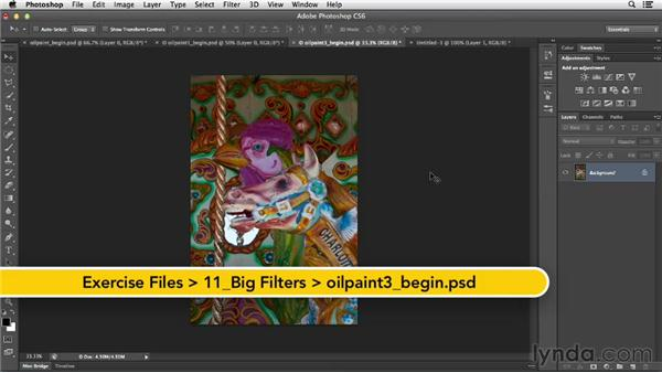 Suggestions for working with the Oil Paint filter: Photoshop for Designers: Filters