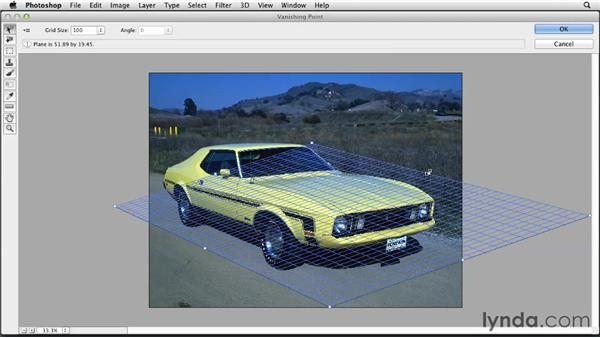 A simple application of the Vanishing Point filter: Photoshop for Designers: Filters