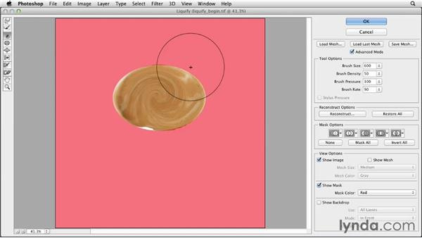 Combining the Liquify and Vanishing Point filters: Photoshop for Designers: Filters
