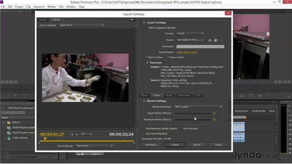 Selecting exporting options: Video Journalism Storytelling Techniques