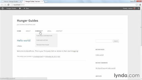 Initial configuration: WordPress Ecommerce: Easy Digital Downloads