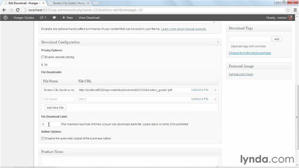 Download configuration: WordPress Ecommerce: Easy Digital Downloads
