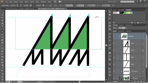 Covering up gaps and seams in your logo: Illustrator CS6 One-on-One: Mastery