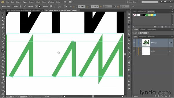 Hand-drawing letters as stroked paths: Illustrator CS6 One-on-One: Mastery