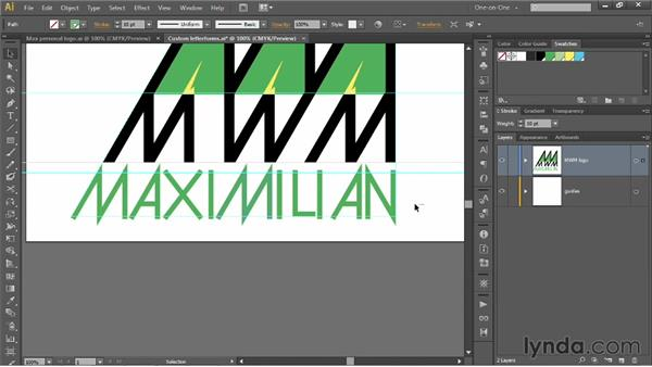 Kerning and clipping hand-drawn type: Illustrator CS6 One-on-One: Mastery