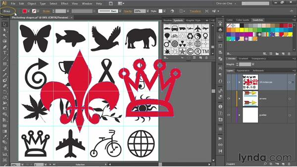 Creating and naming symbols: Illustrator CS6 One-on-One: Mastery
