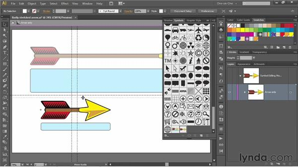 Customizing the effects of 9-slice scaling: Illustrator CS6 One-on-One: Mastery
