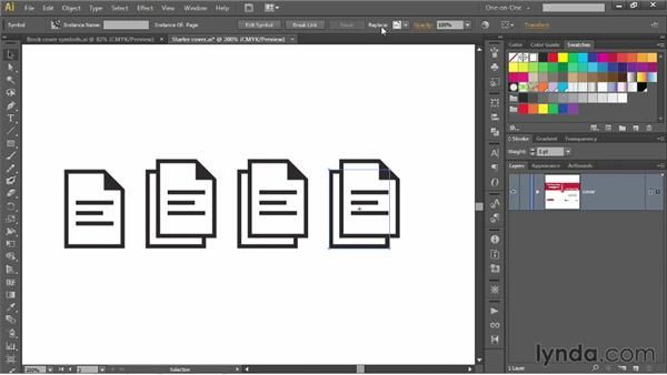 Duplicating and replacing symbol instances: Illustrator CS6 One-on-One: Mastery