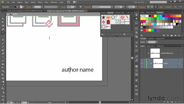 Using symbols to simulate master pages: Illustrator CS6 One-on-One: Mastery