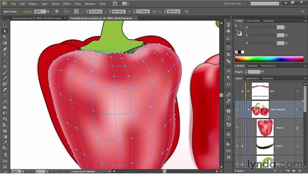 Finessing colors to add depth and shading: Illustrator CS6 One-on-One: Mastery