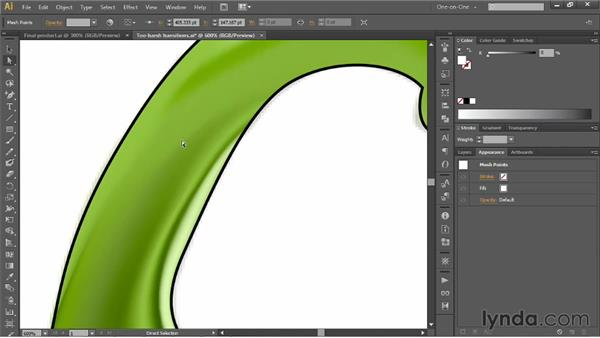 Creating soft and sharp transitions: Illustrator CS6 One-on-One: Mastery