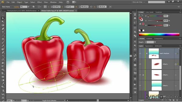 Converting a radial gradient to a mesh: Illustrator CS6 One-on-One: Mastery