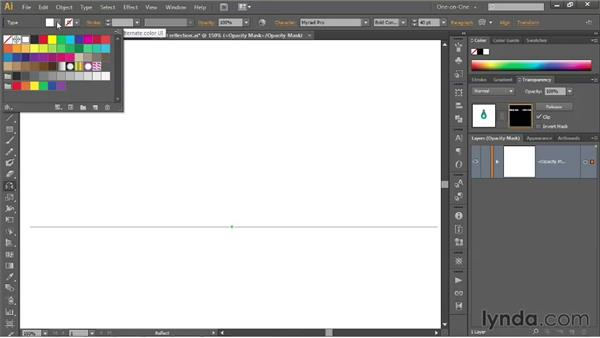 Black conceals, white reveals: Illustrator CS6 One-on-One: Mastery