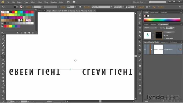 Assigning an empty opacity mask to a layer: Illustrator CS6 One-on-One: Mastery