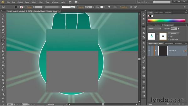 Drawing inside an opacity mask: Illustrator CS6 One-on-One: Mastery
