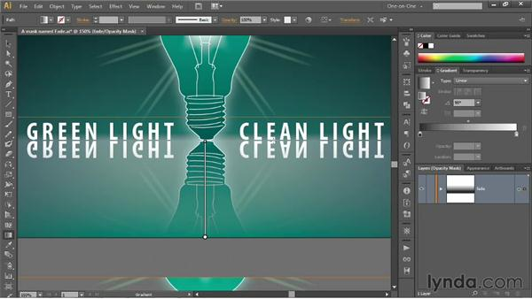 Fading artwork with a gradient opacity mask: Illustrator CS6 One-on-One: Mastery
