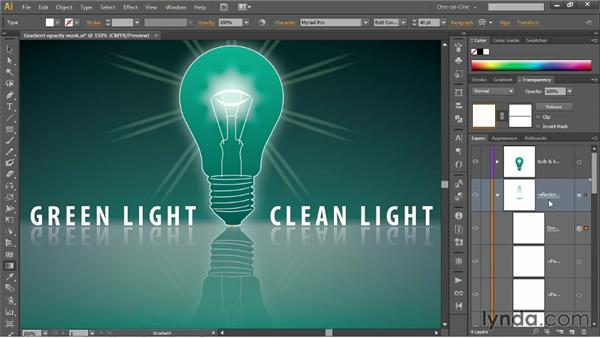 Nesting one opacity mask inside another: Illustrator CS6 One-on-One: Mastery