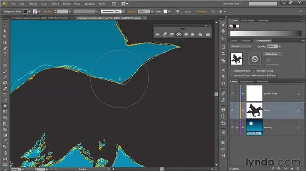 Two ways to apply free-form distortions: Illustrator CS6 One-on-One: Mastery