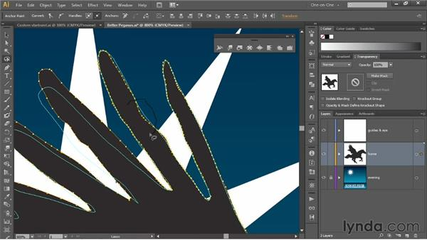 Liquifying an isolated portion of a path: Illustrator CS6 One-on-One: Mastery