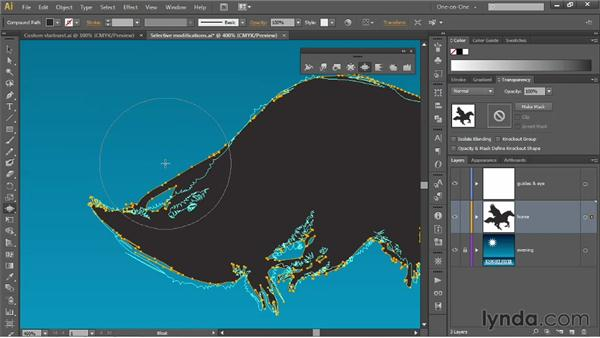 The Twirl, Pucker, and Bloat tools: Illustrator CS6 One-on-One: Mastery