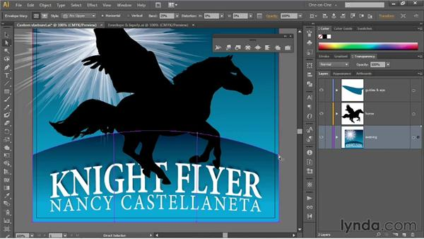 Applying an envelope-style distortion: Illustrator CS6 One-on-One: Mastery